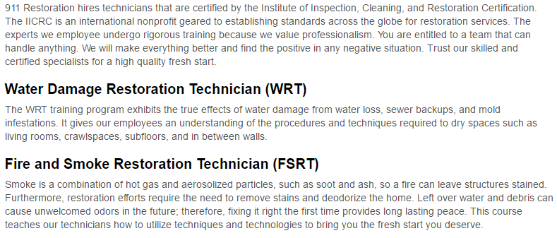 911 Restoration of Charleston certification page